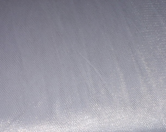 """Shiny Nylon Tulle  Fabric Silver  54"""" Wide Sold by the Yard"""