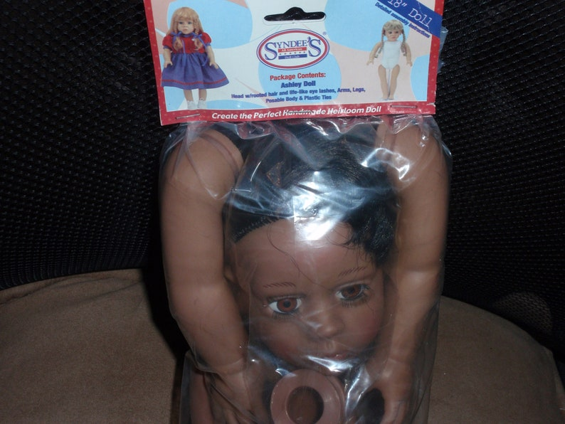 Vintage 1990  Syndee/'s Craft 18 Brown Ashley Doll Kit Head Legs /& Cloth Body NEW Arms