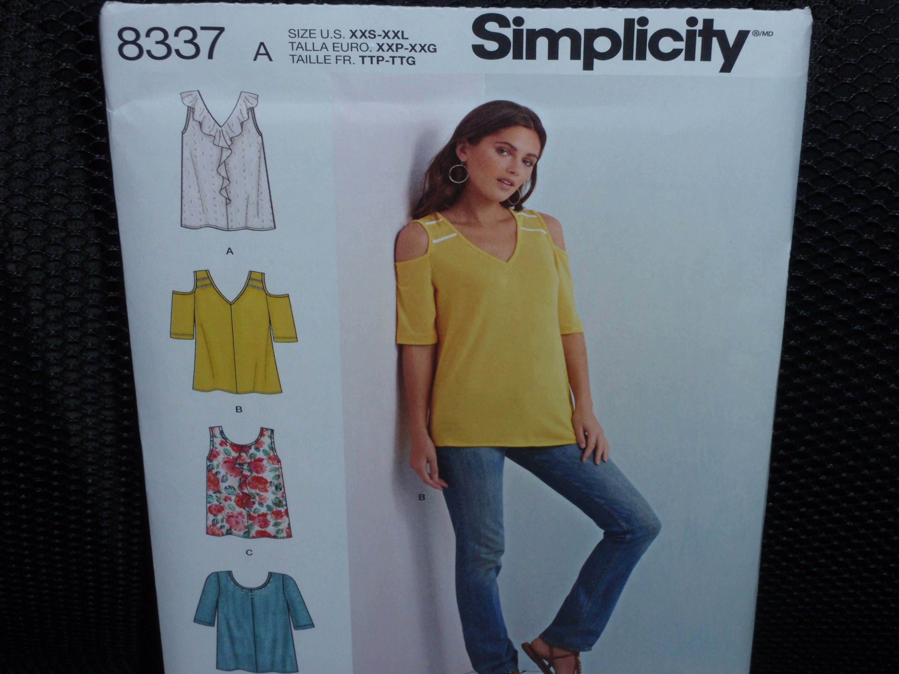 e91d805eb05a Simplicity 8337 Misses  Knit Shirts with Bodice and