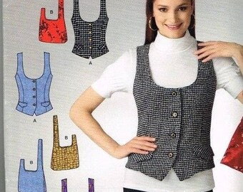 Simplicity 2533 It's So Easy Lined Vest and Wristlet Pattern Size 8-10-12-14-16-18   Uncut  New