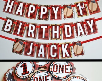 Lumberjack Birthday Party Decorations Fully Assembled   Lumber Jack Party   Lumber Jack Birthday   Wild One Birthday Party   Buffalo Plaid  