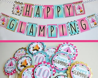 Glamping Party Decorations Package Fully Assembled | Girl Glamping Party Decor | Glamping Decoration | Glamping Birthday Party Decorations