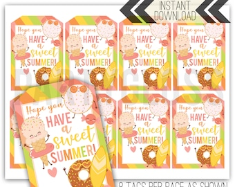 graphic relating to Have a Sweet Summer Printable known as Include a lovable summer months Etsy
