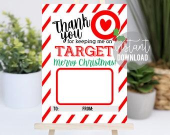 Teacher Christmas Printable Gift Card Holder   On Target Gift Card Holder   Teacher Christmas Holiday Gift Ideas   Coach Gift   Easy Teacher