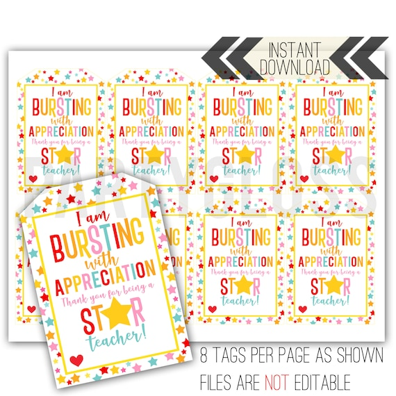This is a picture of Thank You Printable Tags with love printable tag