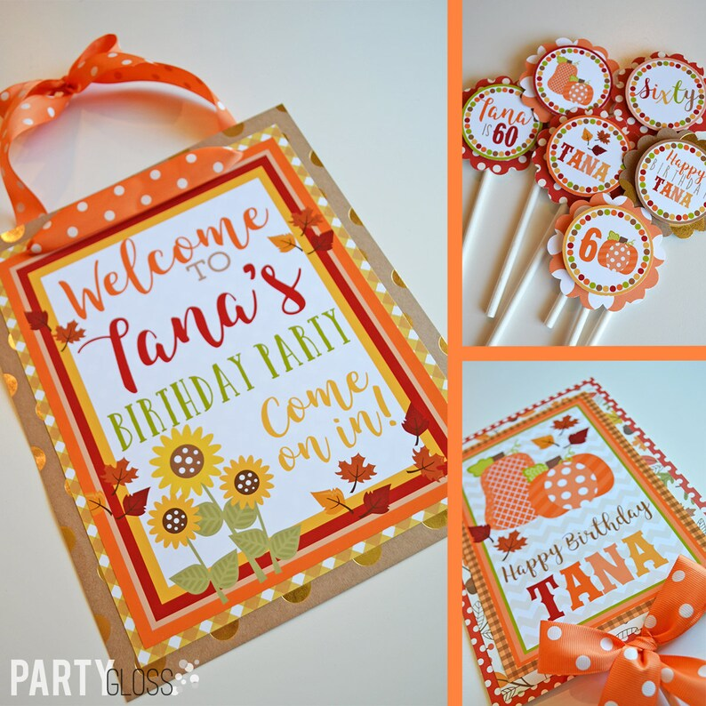 Fall Pumpkin Birthday Party Decorations Package Fully