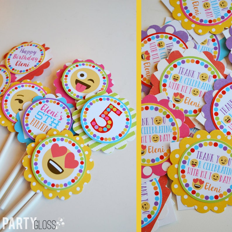 Emoji Birthday Party Decorations Package Fully Assembled
