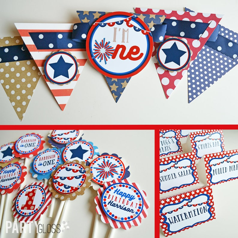 4th Of July Birthday Party Decorations Fully Assembled Red