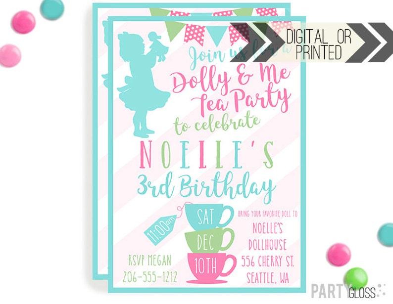 Baby Doll Tea Party Invitation