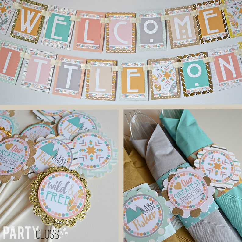 Boho Baby Shower Decorations Package Fully Assembled Modern Etsy