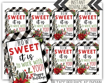 Christmas Holiday Staff Gift Printable Tag | Christmas Coworker Tag | Classic Tag | Employee Gift | Staff Boss Tag | Cookie Tag | Sweets Tag