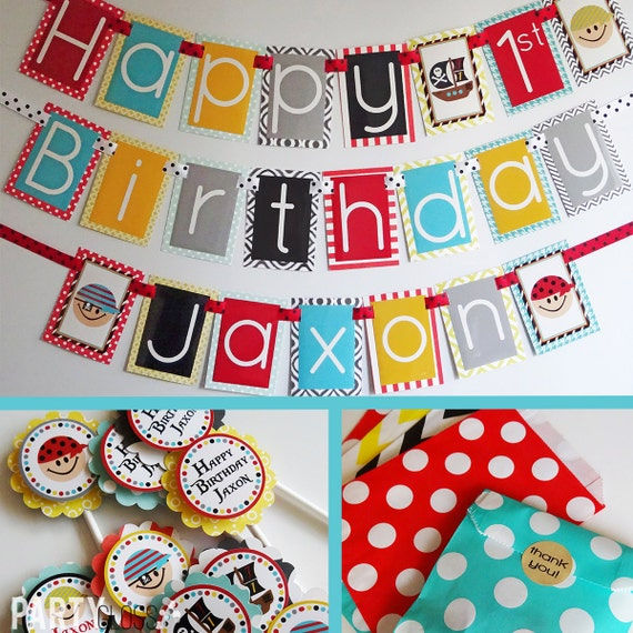 Pirate Birthday Party Decorations Package Fully Assembled Pirate Themed Party Pirate Decorations Pirate Birthday Party Decor