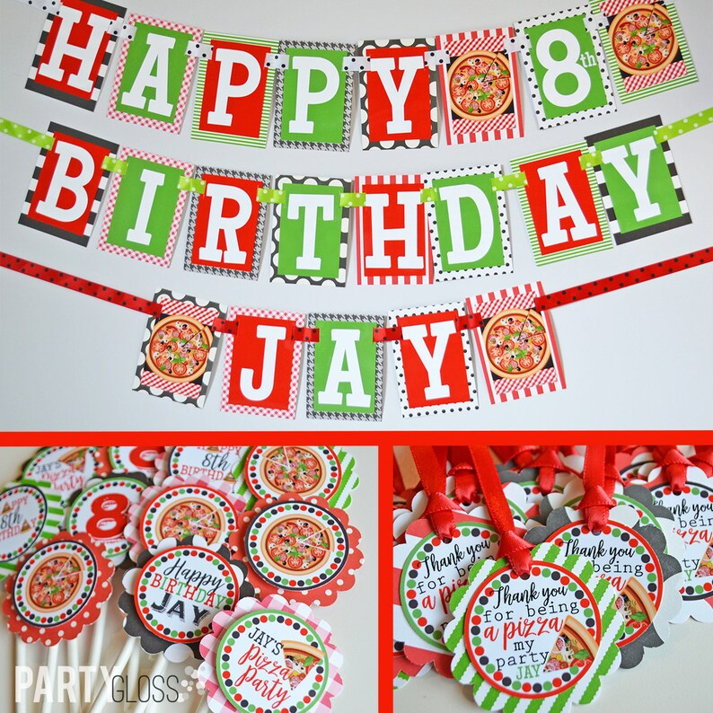 Pizza Party Birthday Decorations Themed