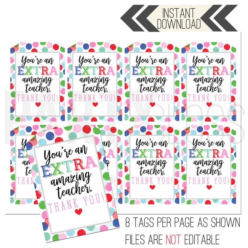 picture regarding Extra Gum Teacher Appreciation Printable named Instructor Appreciation Printable Tag Gum Tags Far more Tags Additional Remarkable Trainer Trainer Thank On your own Instructor Appreciation Tag Gum Tags