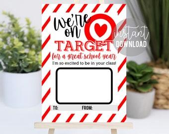 Back To School Printable Gift Card Holder   On Target Gift Card   Teacher Gift Ideas   Easy Teacher Gift   School Supply Gift Card   Holder