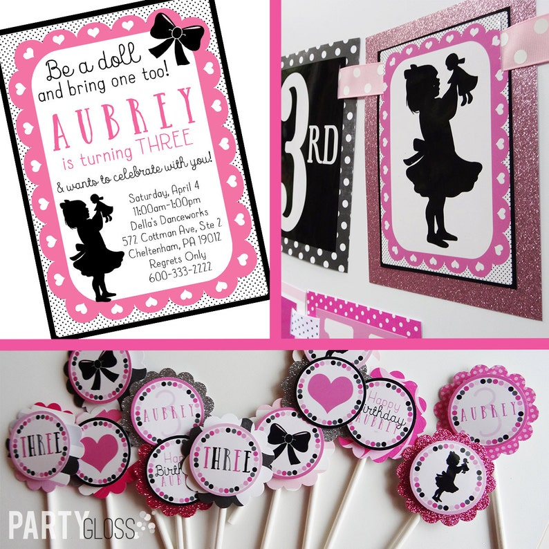 Baby Doll Birthday Party Decorations Package Fully Assembled