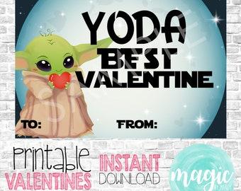 INSTANT DOWNLOAD Yoda best  Printable  Valentine for Valentines Day