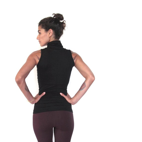 workwear. active wear Tank top with tie shoulder dance clothes oversized tank vest workout yoga top adjustable