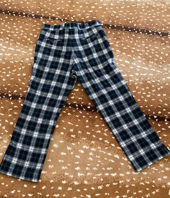 Pendleton Plaid Wool Pants for Men - Blue Green P… - image 4