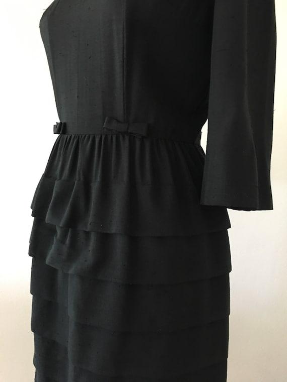 1950 1960 Vintage Black Dress Semi Formal Cupcake Wiggle Etsy