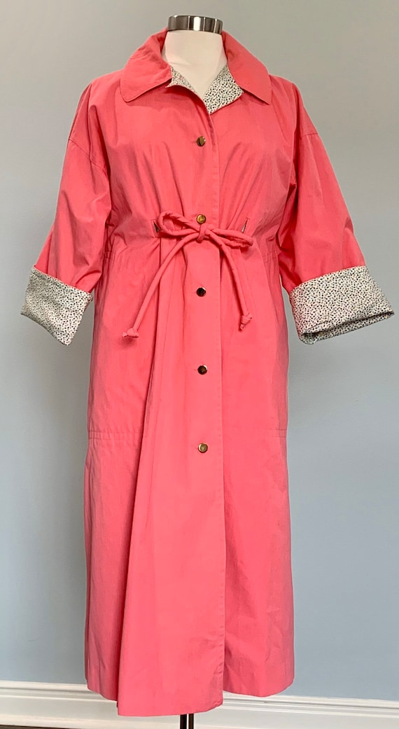 1970s Pink Trench Coat - Pink Trench Coat by Bonn… - image 2
