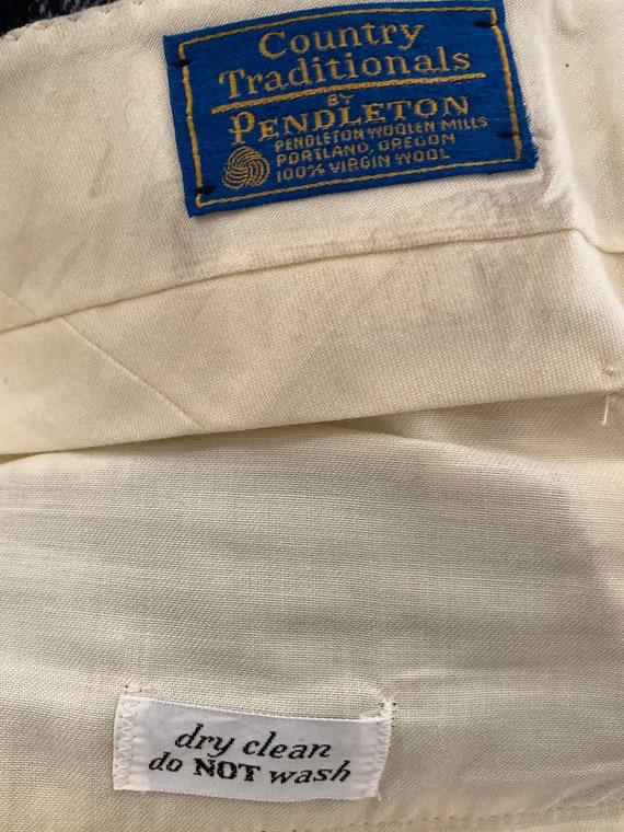 Pendleton Plaid Wool Pants for Men - Blue Green P… - image 3
