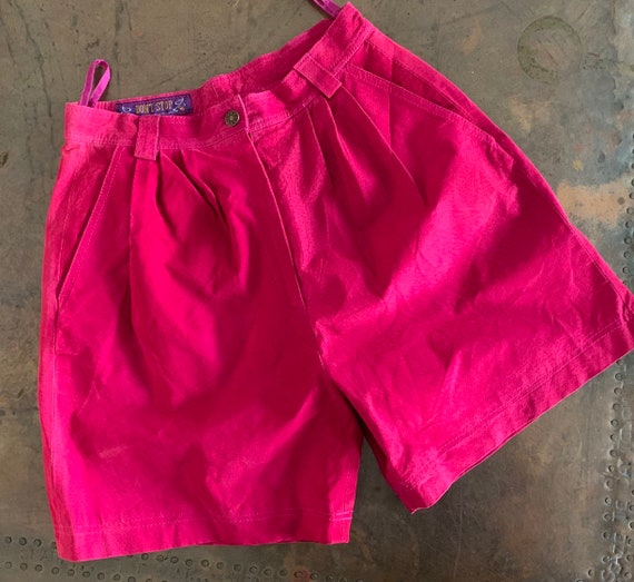 1990s Hot Pink Suede Bermuda Shorts - Don't Stop -