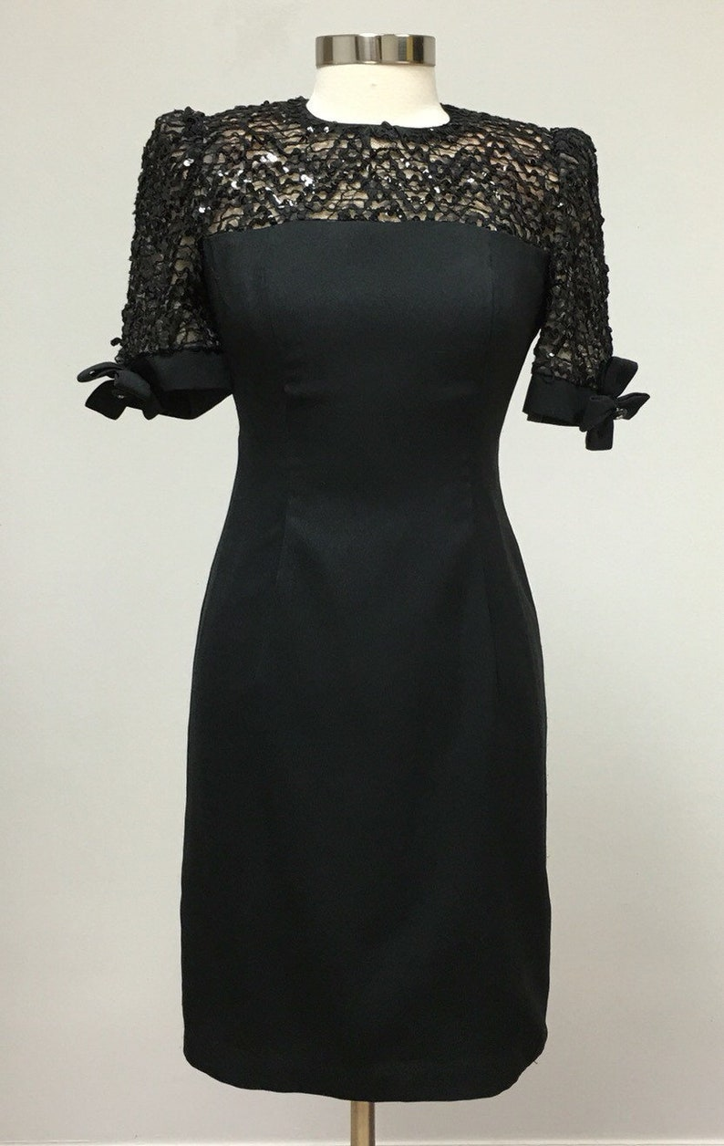 1cfb1763b0d Lace and Sequins Little Black Dress Formal Semi Formal