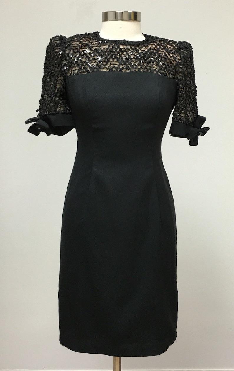 4e637e969f Lace and Sequins Little Black Dress Formal Semi Formal