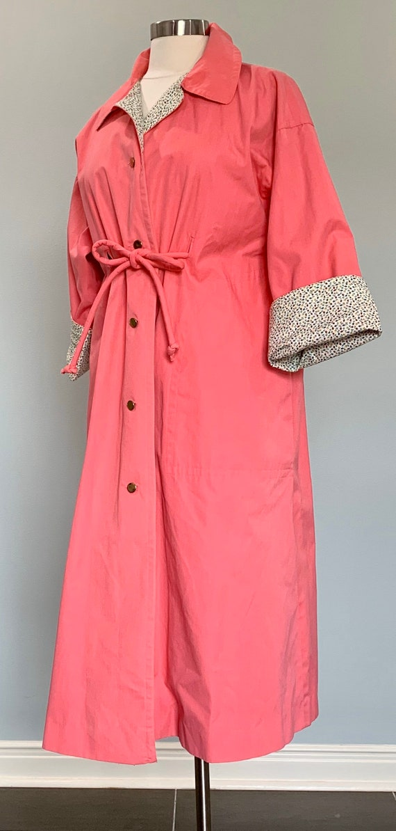 1970s Pink Trench Coat - Pink Trench Coat by Bonn… - image 3
