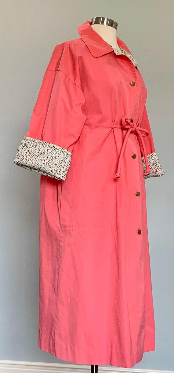 1970s Pink Trench Coat - Pink Trench Coat by Bonn… - image 5