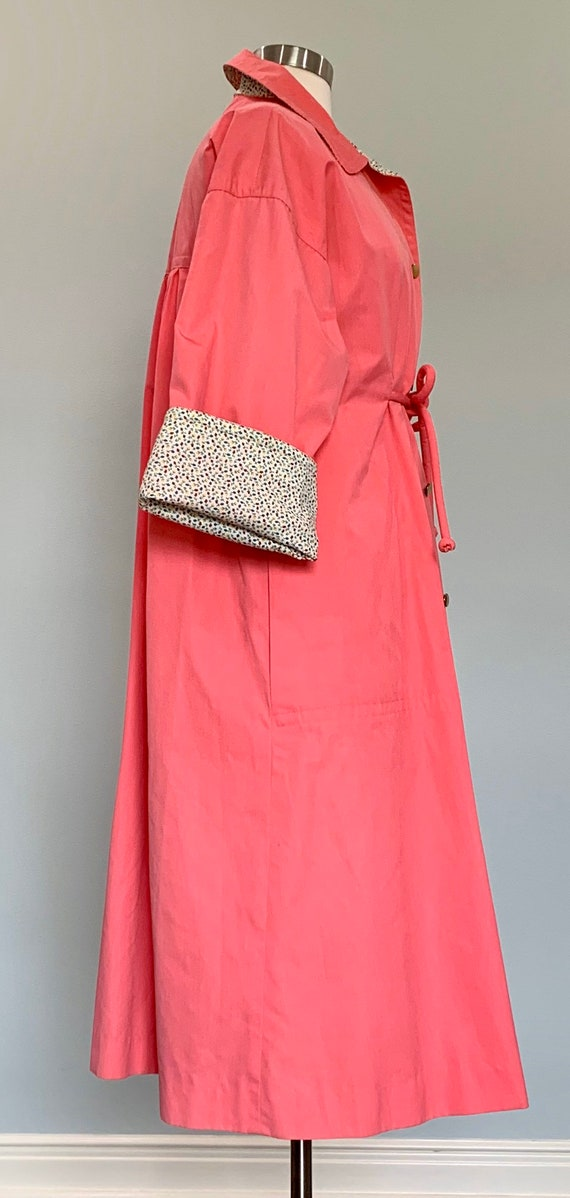 1970s Pink Trench Coat - Pink Trench Coat by Bonn… - image 6