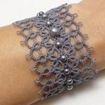 Tat Jewelry Lace Cuff Bracelet -Obsession handmade many color choices fancy modern lace bridal formal or casual wear strong original design