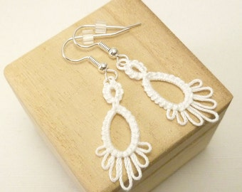 Tat earrings Lace Dangles -Frilly Drips Made to Order simple casual jewelry in your color choice