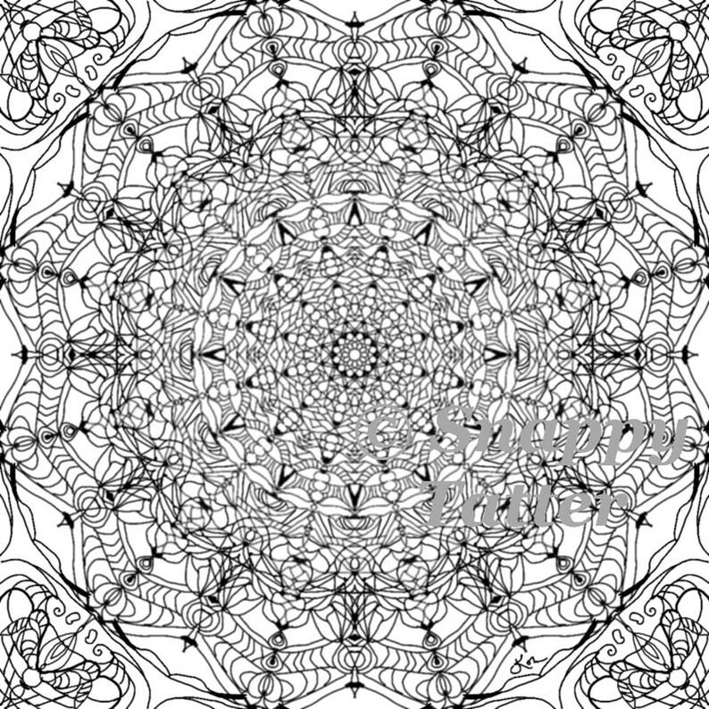 Coloriage Mandala Russe.Adulte Coloriage Mandala Vitrail Par Snappy Celui Ci Dessin Etsy