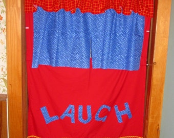 Portable Doorway Puppet Theater - Custom Made with Carrying Bag/ Hang in Any Doorway/ Puppet Show Stage