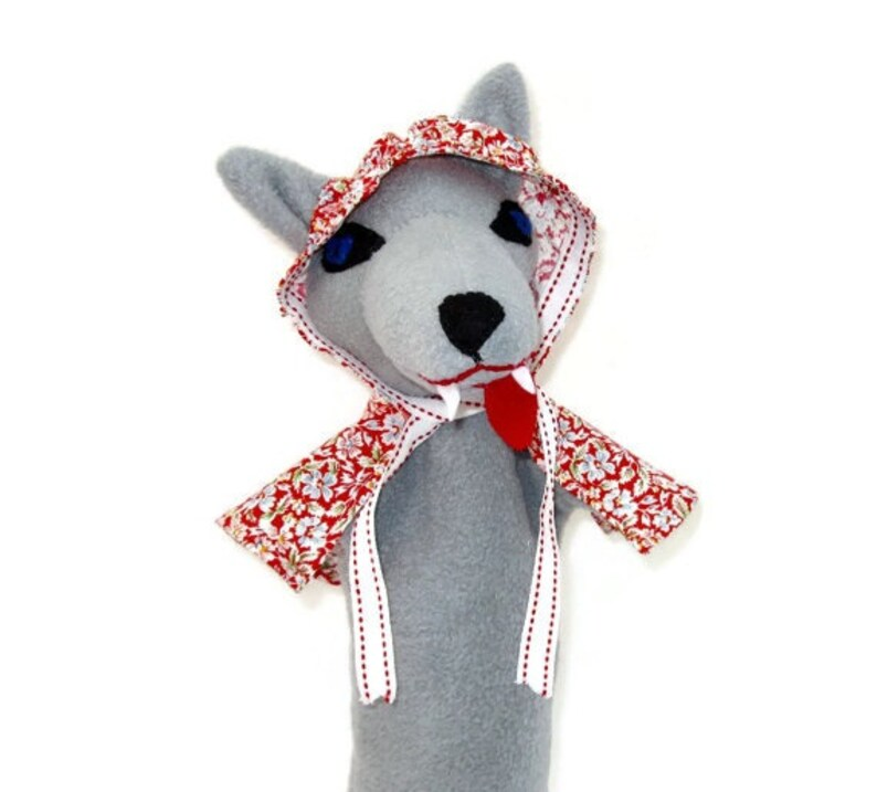 6ffd274c33ef9 Big Bad Wolf or Good Hand Puppet Custom Made Little Red | Etsy