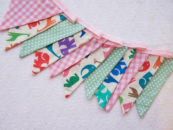 Fabric Bunting Grey Lime Green Party Wedding Celebration Decor 3m Lets Party