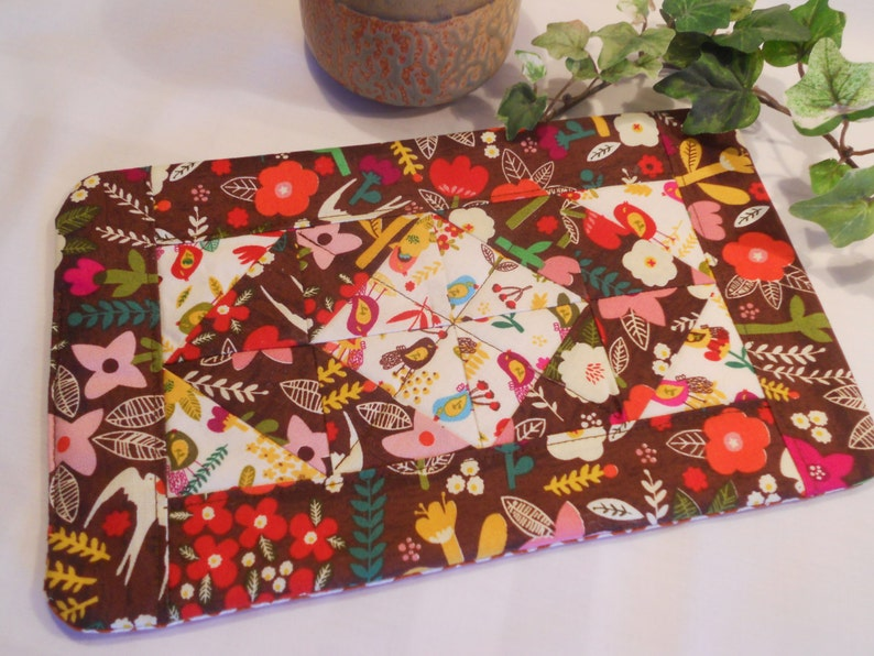 Quilted Hot Pad  Table Topper or Mug Rug