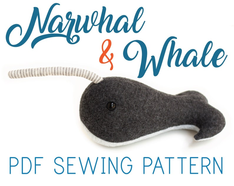 Narwhal Pattern and Whale Pattern  PDF Download for Stuffed image 0