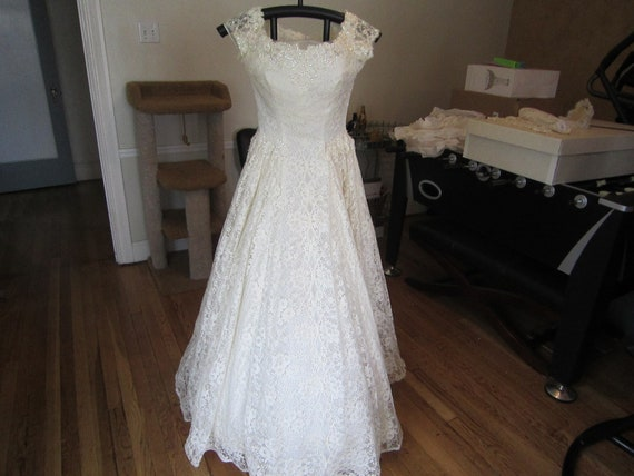 1950's Marie of Pandora Wedding Gown with Matching