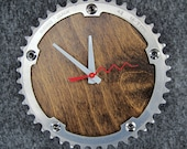 Recycled Sugino Track Bike Chainring Wall Clock