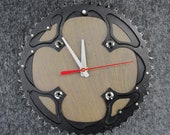 Recycled Mountain Bike Chainring Wall Clock