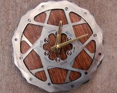 Recycled Avid Double Mountain Bike Disc Brake Rotor Wall Clock