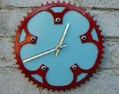 Recycled Track/Fixie Bike Chainring Wall Clock