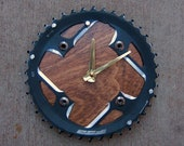 Recycled FSA Mountain Bike Chainring Wall Clock