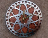 Recycled Hayes Double Mountain Bike Disc Brake Rotor Wall Clock