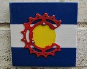 """4""""x4"""" I Bike CO Recycled Art Tile"""