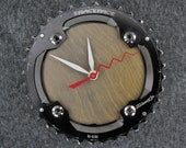 Recycled RaceFace Mountain Bike Chainring Wall Clock