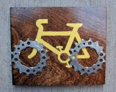 """6""""x5"""" Recycled Bicycle Cruiser Plaque"""
